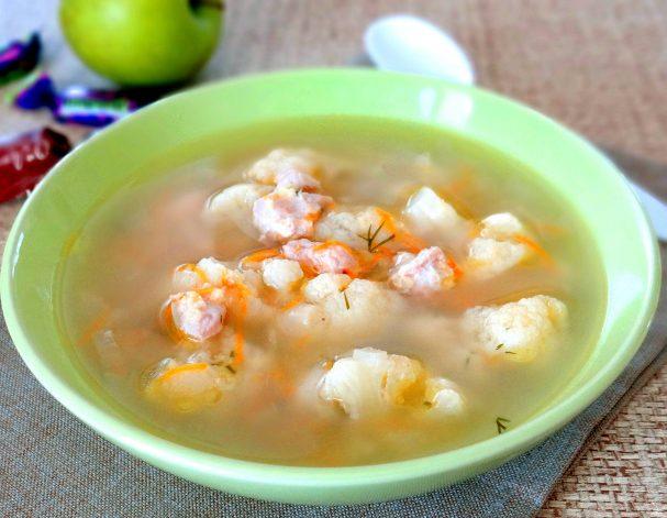 Суп из цветной капусты в мультиварке