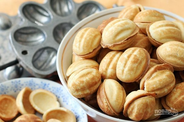 печенье орешки со сгущенкой старый рецепт с фото