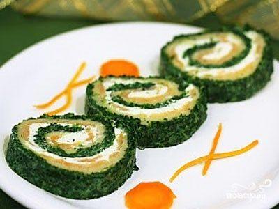 Рыба, запеченная со шпинатом