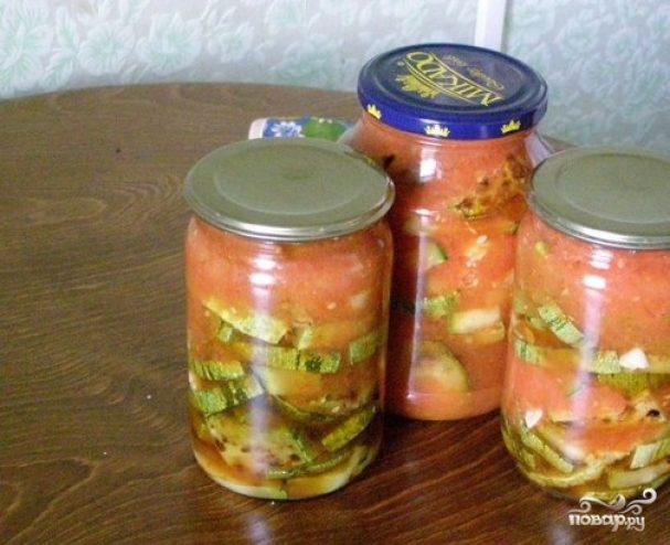 Жареные кабачки с чесноком на зиму