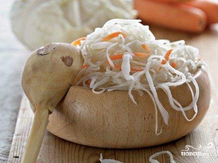 Квашеная капуста без соли рецепт классический