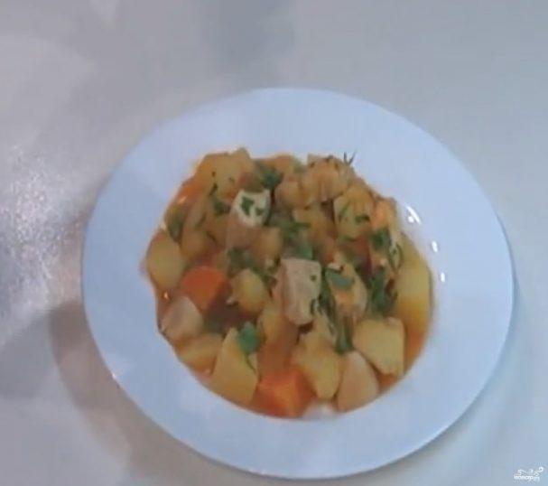 Рагу с овощами и курицей