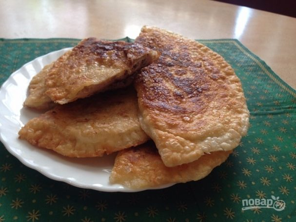 Чебуреки слоеные рецепт с фото пошаговый