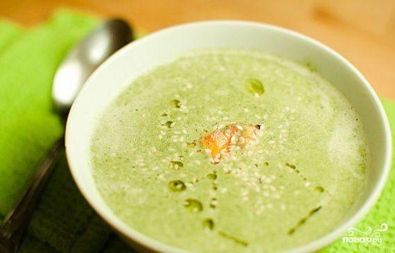 Суп-пюре из брокколи без картофеля