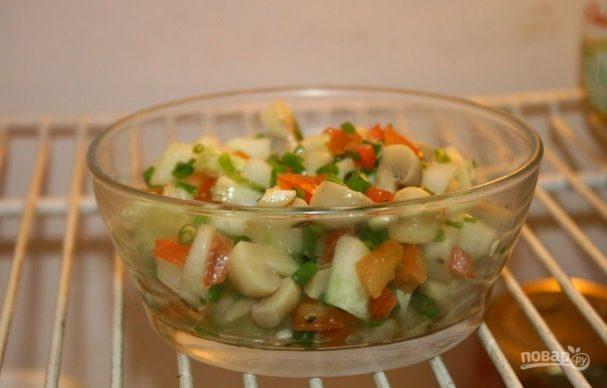 Рецепты салатов грибами без майонеза