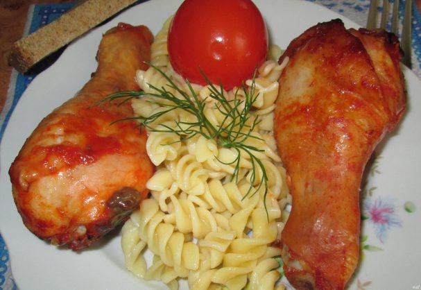 Куриная голень в соевом соусе