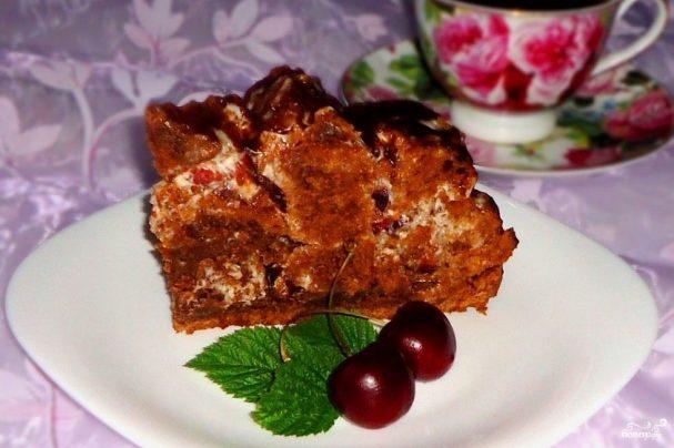 Торт Кучерявый пинчер с вишней