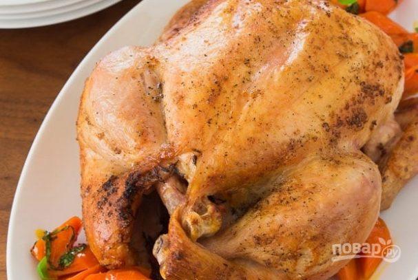 Запеченная курица с хрустящей корочкой