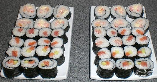 Суши с креветками