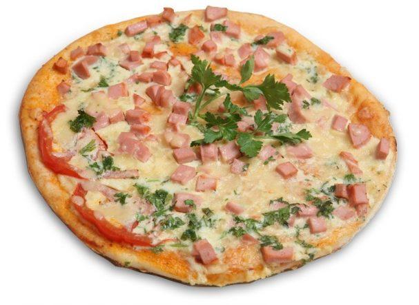 Пицца с докторской колбасой