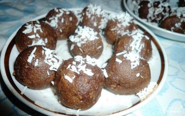 """Пирожное """"Картошка"""" из батона"""
