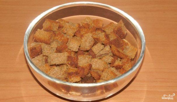 Сухарики из черного хлеба в духовке