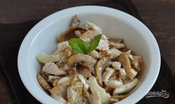 Салат из грибов шампиньонов