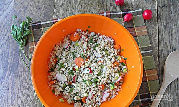 Салат из пшенной каши
