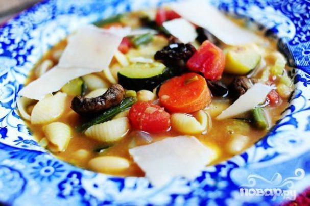 Суп минестроне с пастой