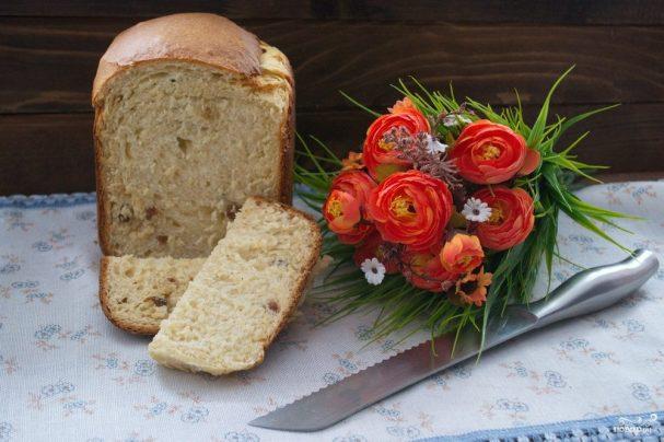 Кулич творожный в хлебопечке