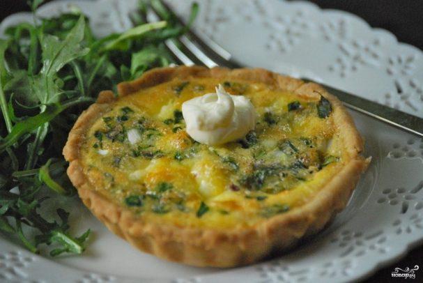 Тарталетки с творожным сыром и зеленью