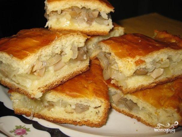 Пирог с груздями