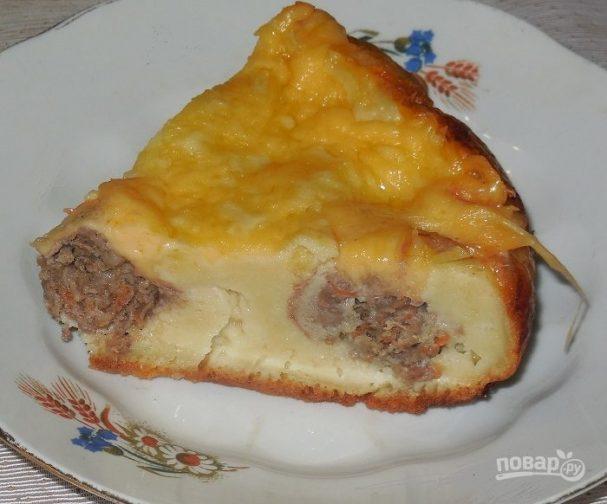 Пирог с мясом на скорую руку