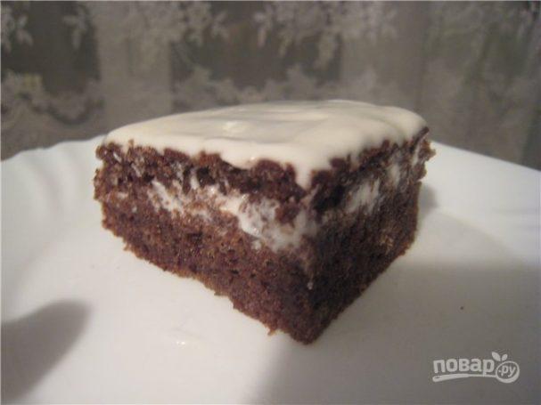 Торт черемуховый со сметаной