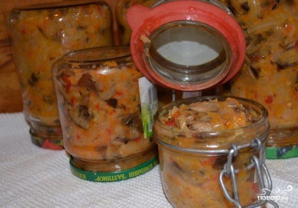 Солянка из квашеной капусты с грибами на зиму