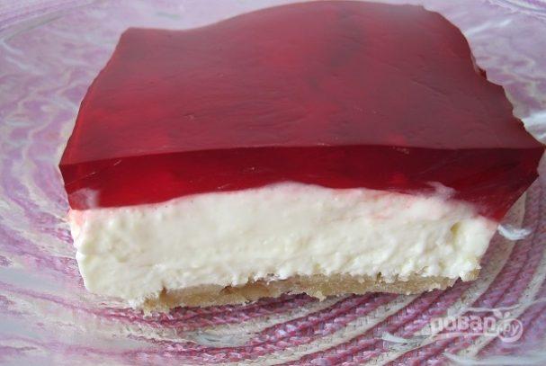 Творожный десерт с желатином