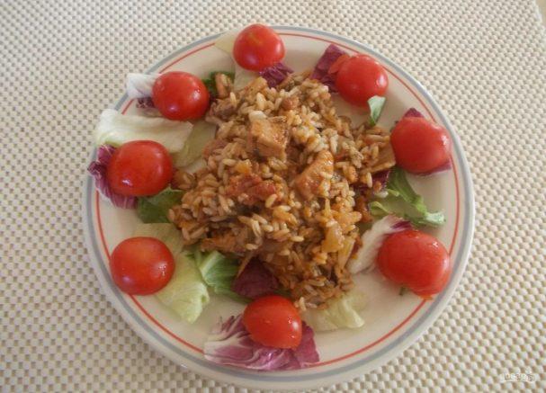 Рис с подливкой