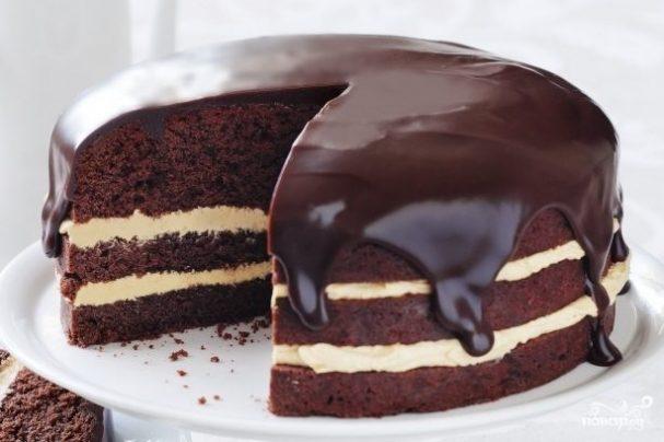 Торт негр на сметане рецепт