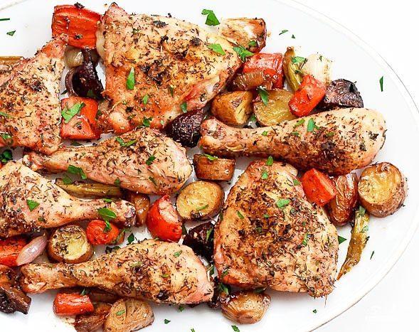 Куриные ножки с овощами