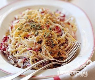 Спагетти с радиккио и рикоттой