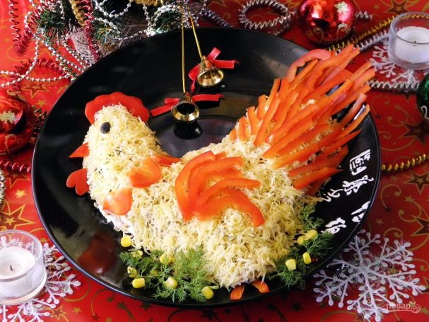 Салат «Золотой петушок»