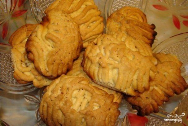 Печенье на майонезе через мясорубку