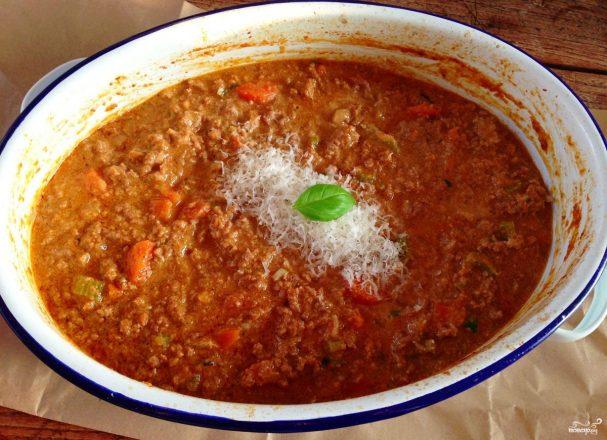 Фарш с томатной пастой