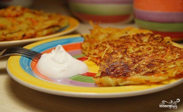 Картофельные оладьи постные