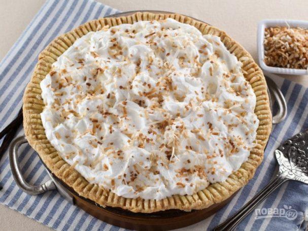 Пирог с кокосовой начинкой