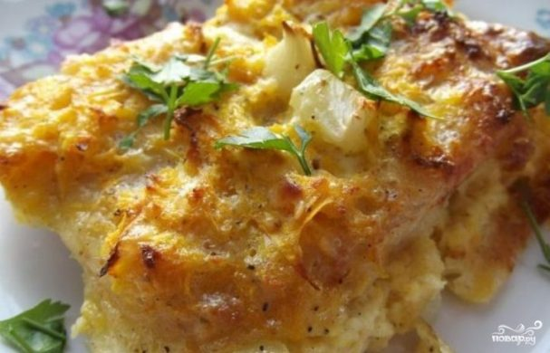 Пангасиус с сыром в духовке