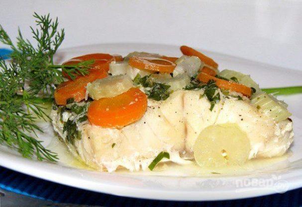 Филе палтуса с овощами