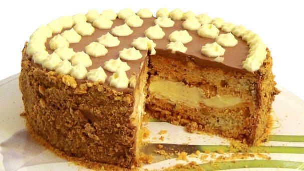 """Домашний торт """"Киевский"""""""