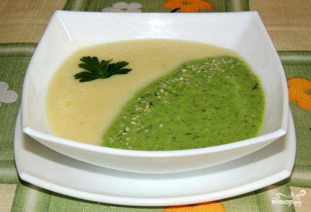 Суп-пюре из брокколи и кабачков