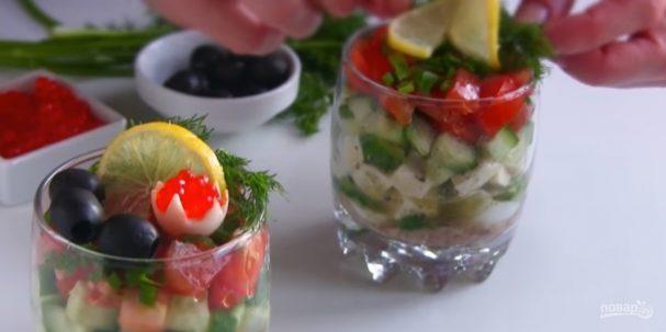 Два праздничных салата за 10 минут