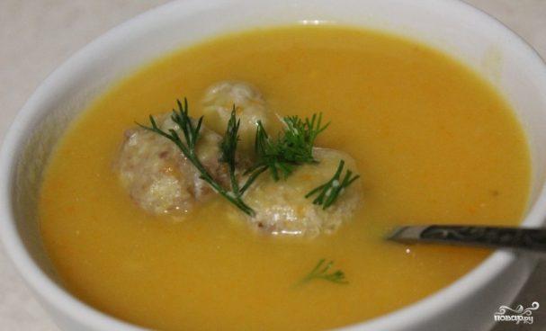 Суп пюре с фрикадельками