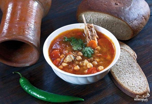 суп с нутом и говядиной рецепт с фото