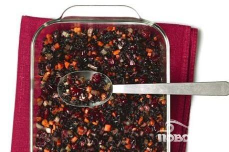 Рис с клюквой, морковью и имбирем