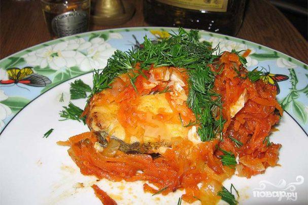 Треска с болгарским перцем и имбирем