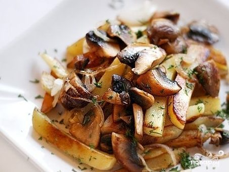 подберезовики жареные с картошкой рецепт с фото