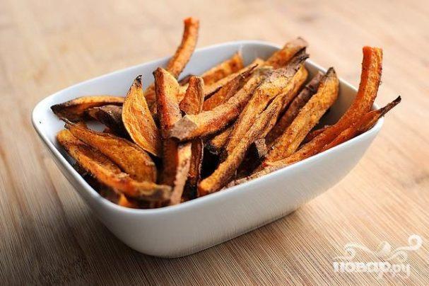 Сладкий картофель-фри