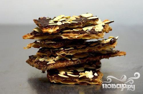 Шоколадно-карамельные крекеры