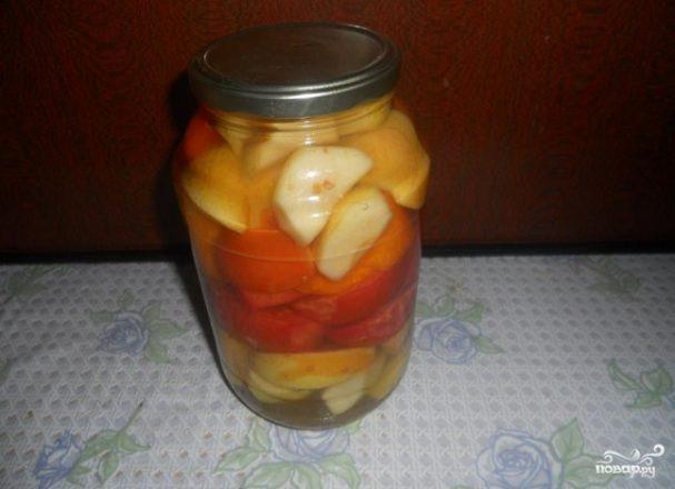 Салат из помидоров на зиму без стерилизации