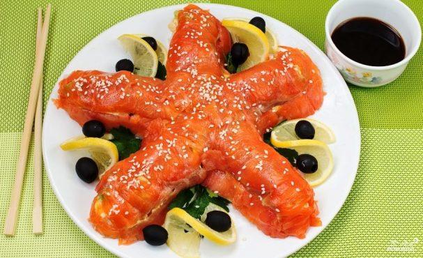 """Суши-торт """"Морская звезда"""""""