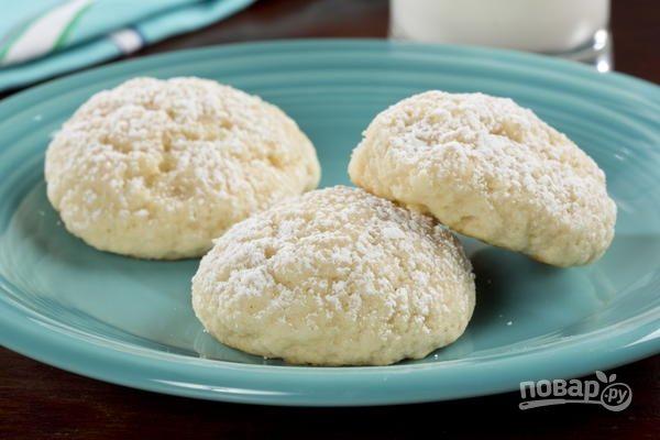 Домашнее печенье с творогом простое